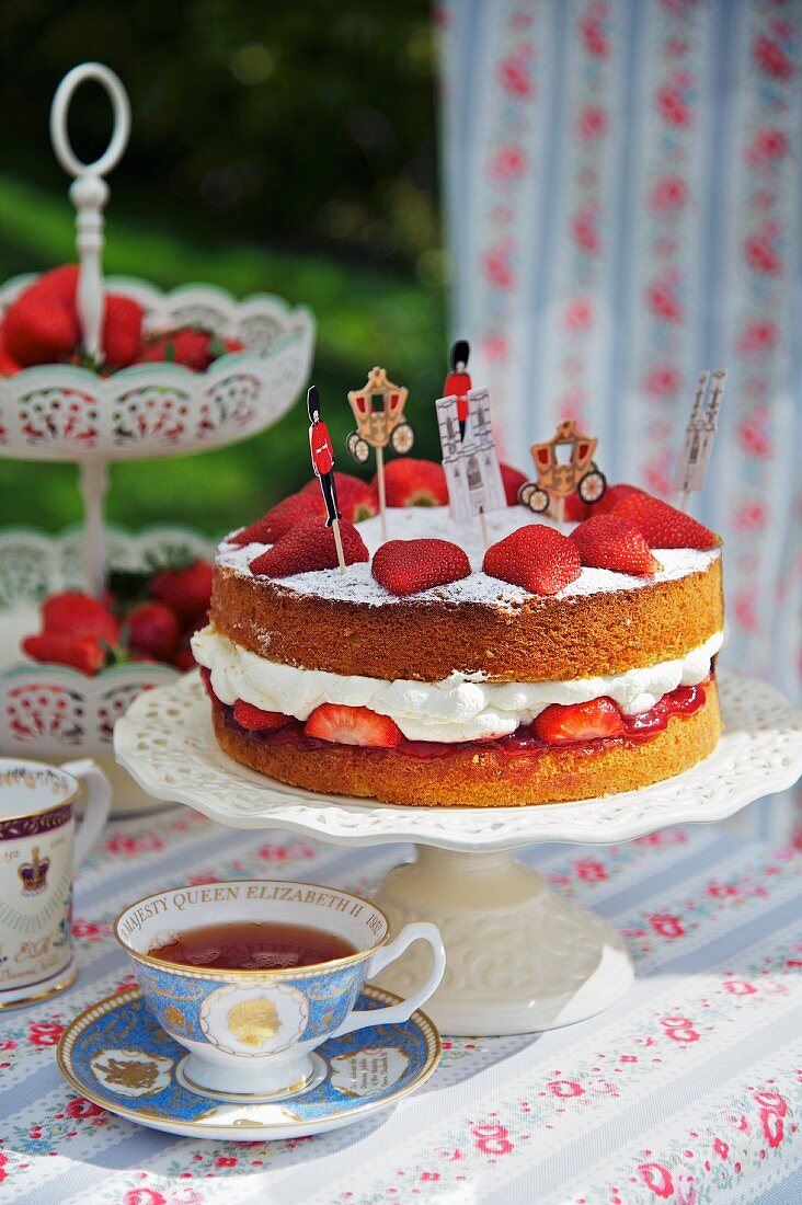 A Victoria Sponge Cake for a Jubilee party (England)