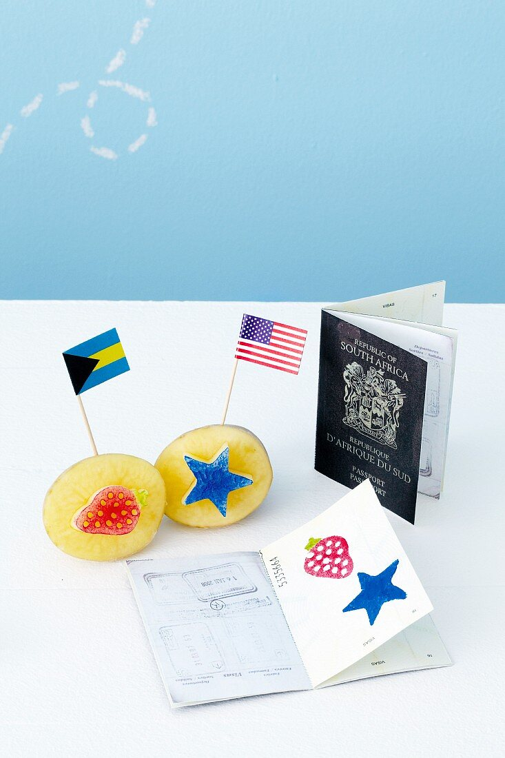 Potato stamps, toothpick flags and fake passports