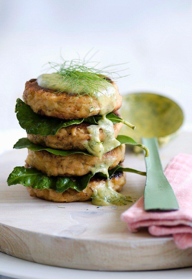 Salmon fishcakes with dill bearnaise