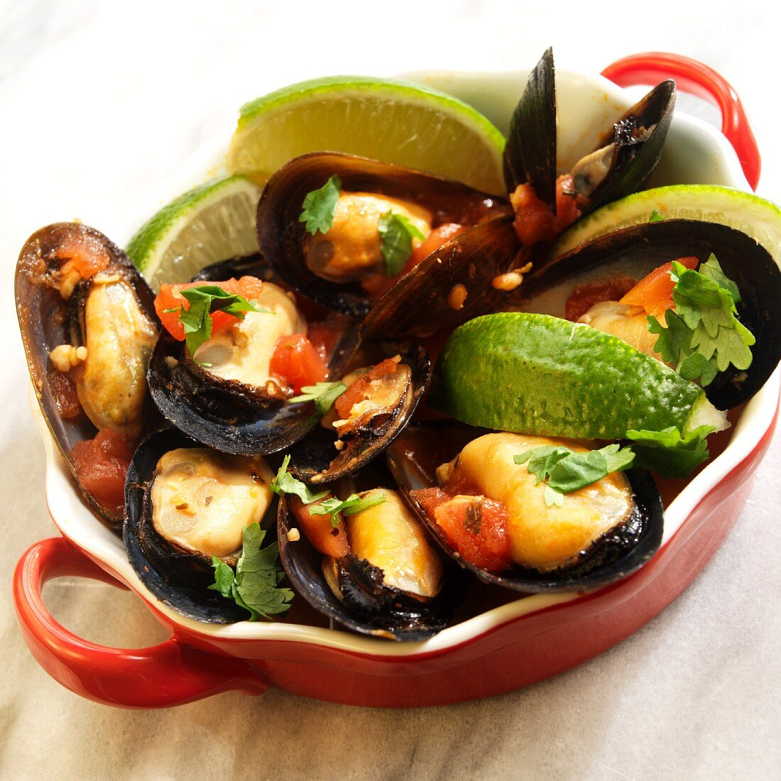 Mexilhão a pescador (Brazilian Mussels with Lime)