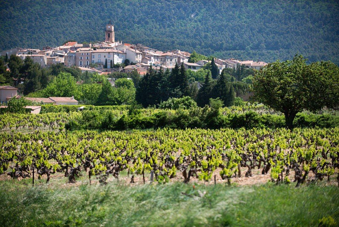 A wine-growing village of Sablet, Côtes du Rhône Villages
