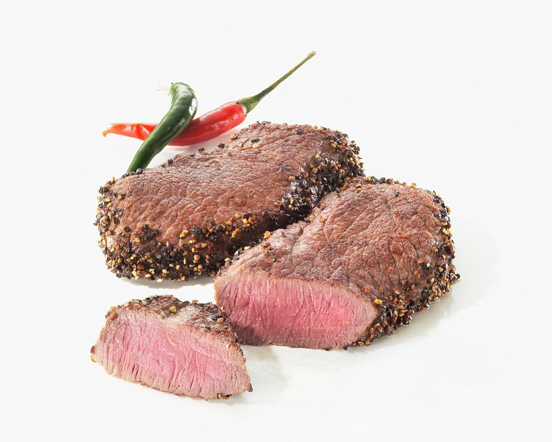 Two pepper steaks