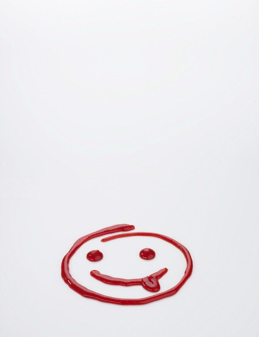 A funny ketchup smiley