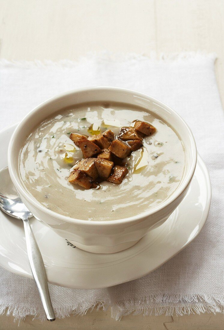 Potato soup with Kalahari truffles