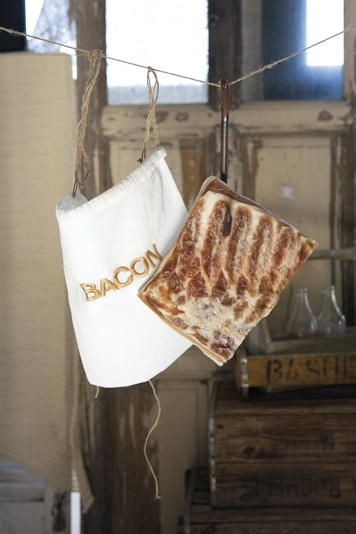 Home-made smoked bacon