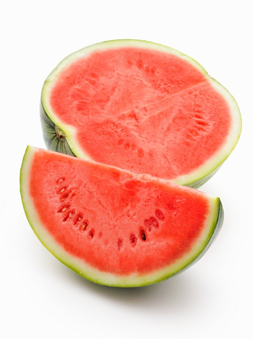 Watermelon, a half and a wedge