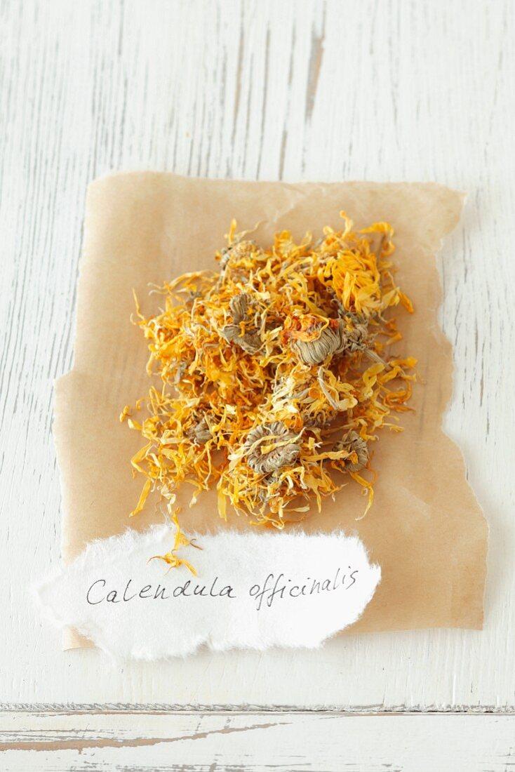 Dried marigold (Calendula officinalis)
