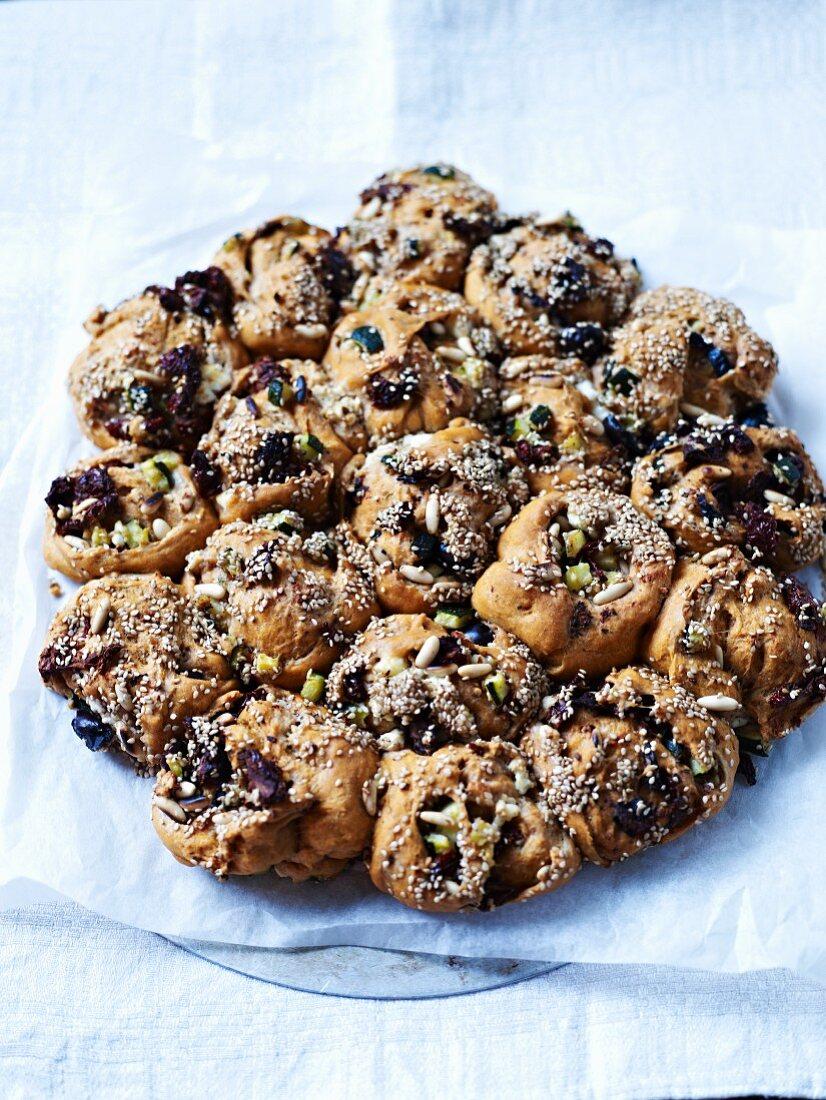 Mediterranean nut bread