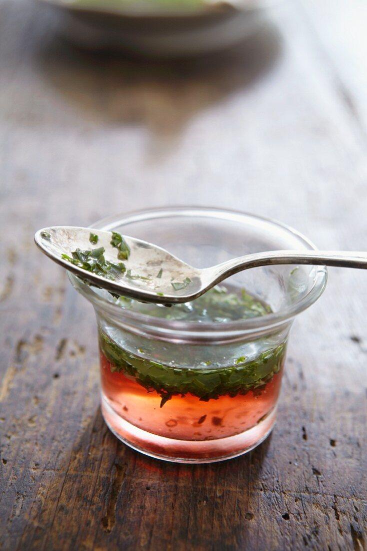 A herb salad dressing