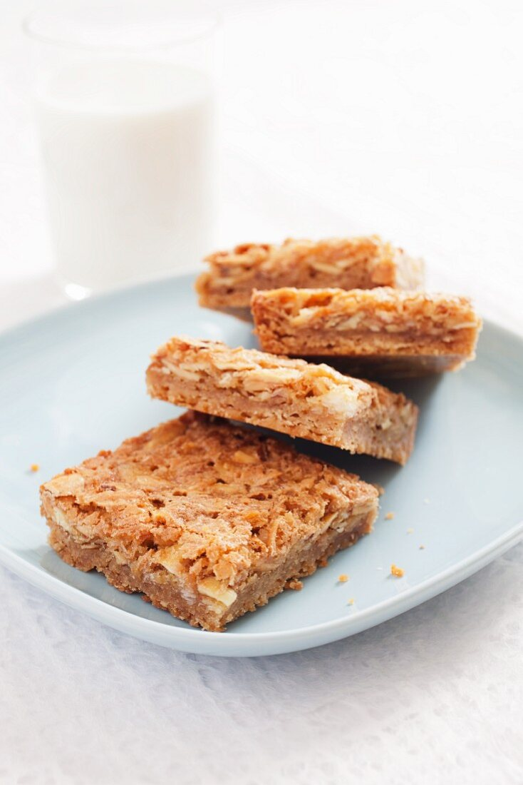 Chewy Coconut Toffee Bars