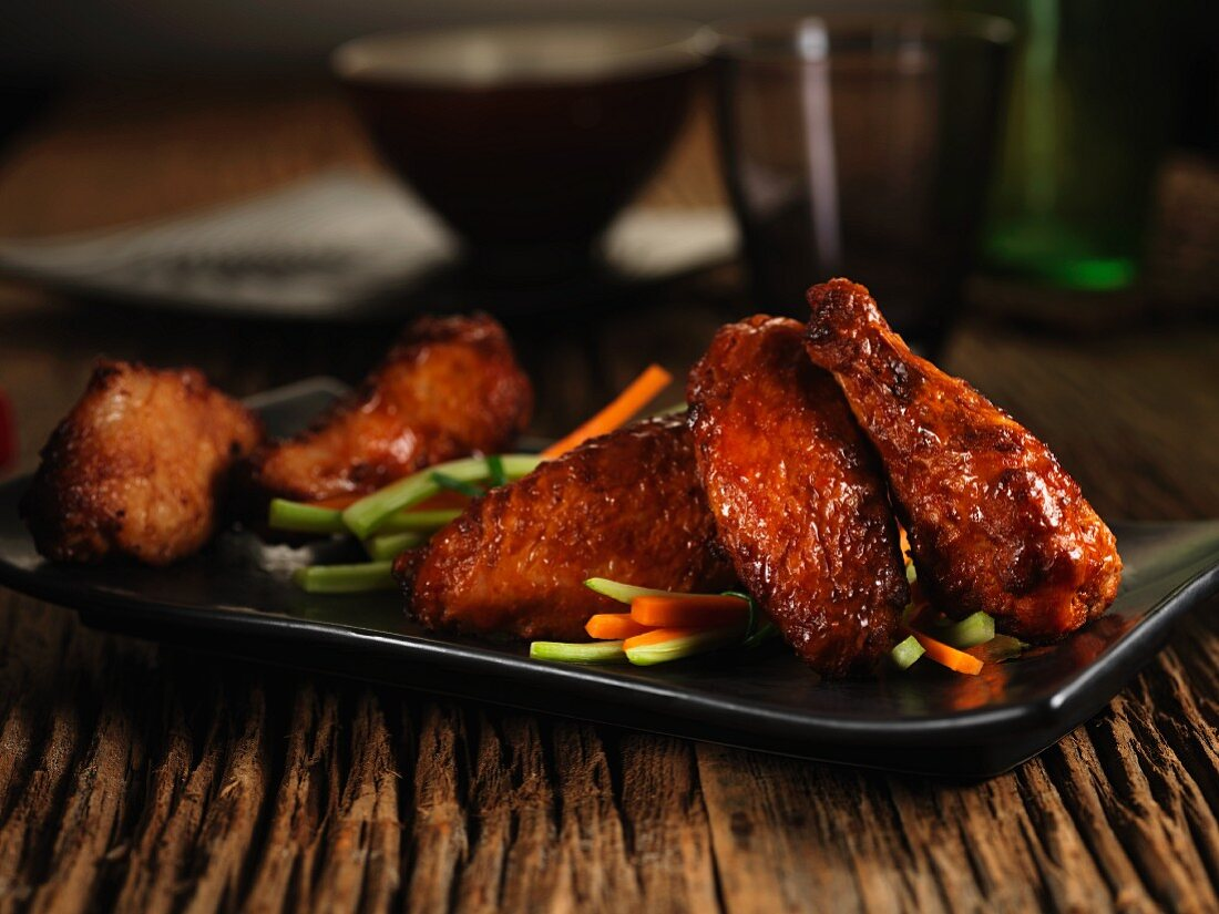 Chicken wings with a sweet, mild marinade