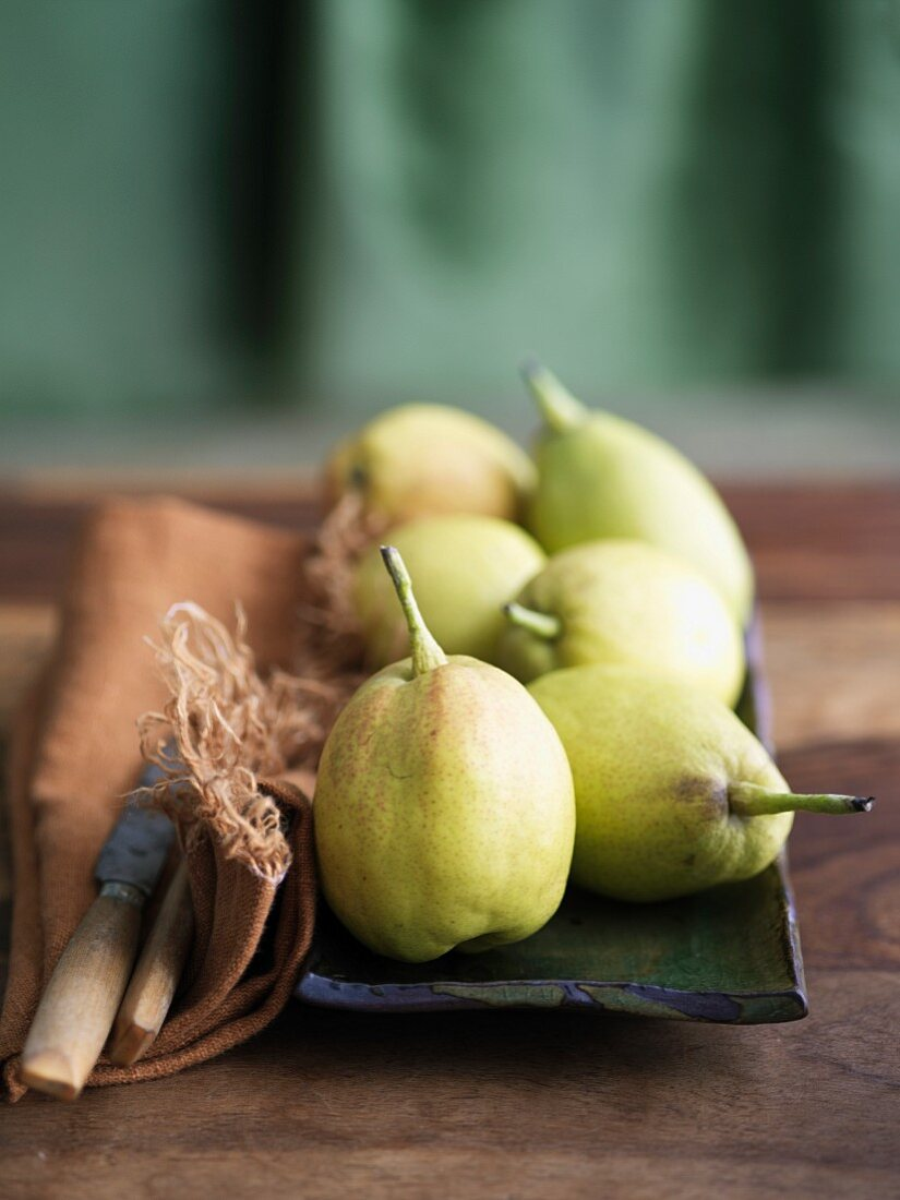 Asian Fragrant Pears on a Platter