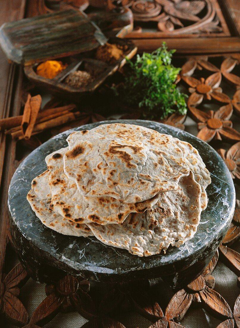 Paratha (unleavened Indian bread)