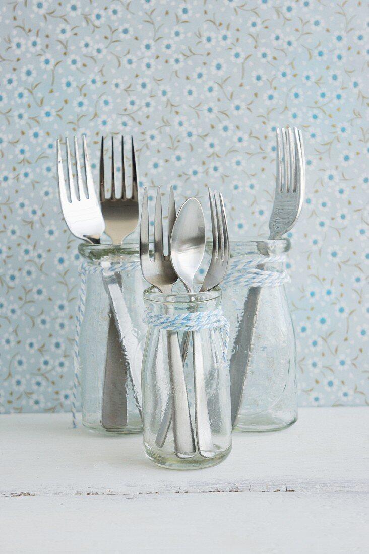 Cutlery in bottles