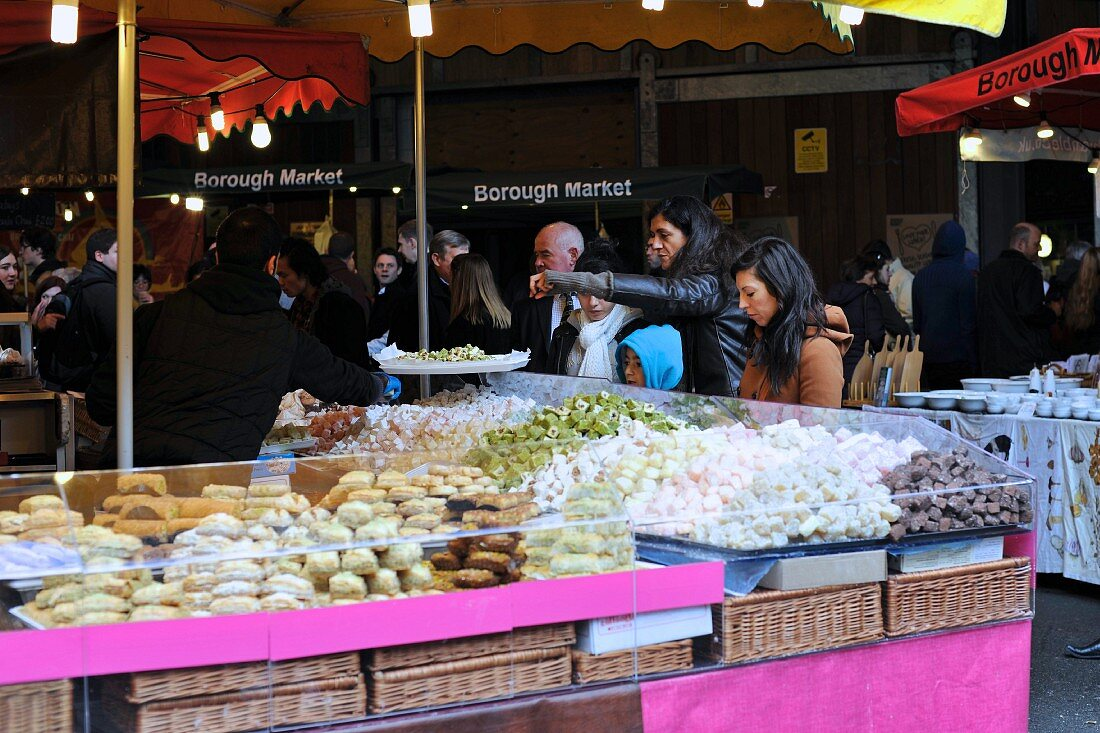A Turkish confectionery stand