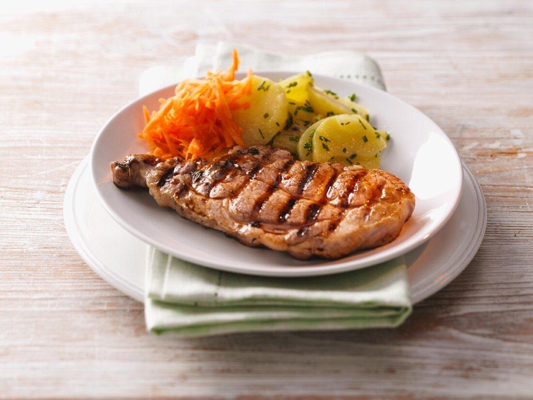 Grilled pork chopped, Saarland