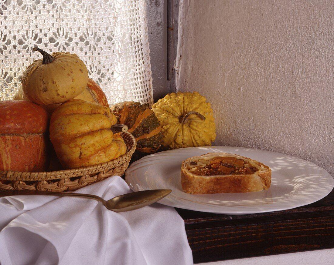 Strudel di zucca (pumpkin strudel, Italy)