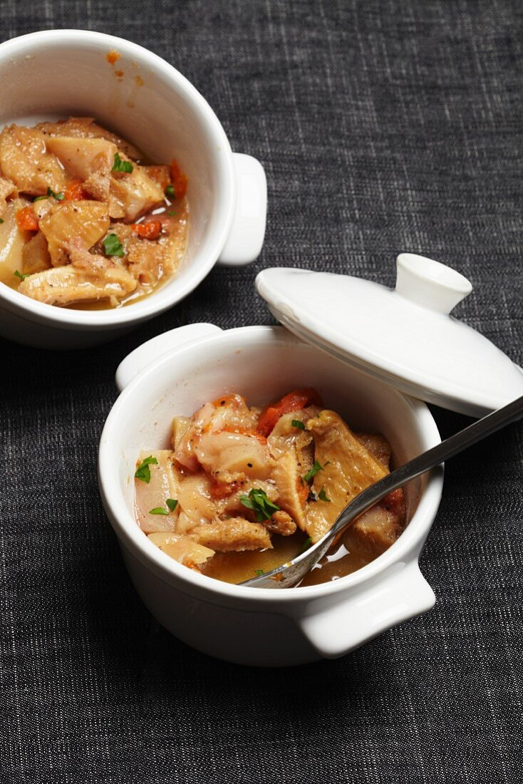 Tripe casserole with vegetables