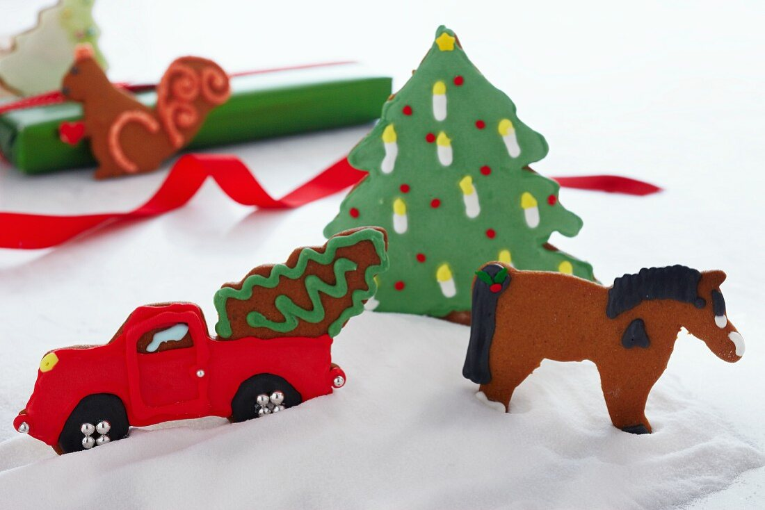 Christmas Cookie Winter Scene