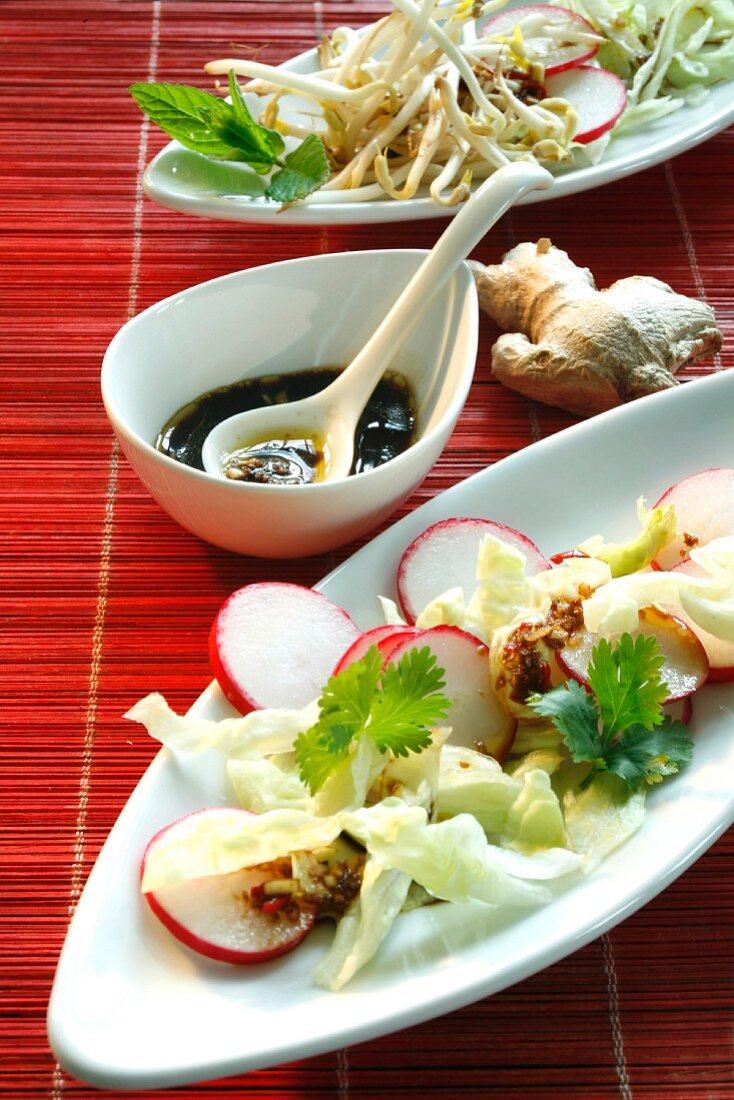 Ginger dressing for Asian salad