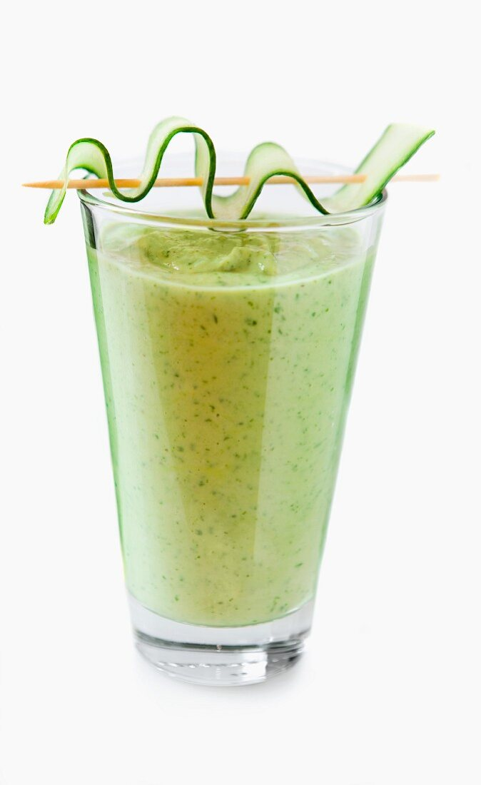 Rocket and cucumber smoothie (no background)