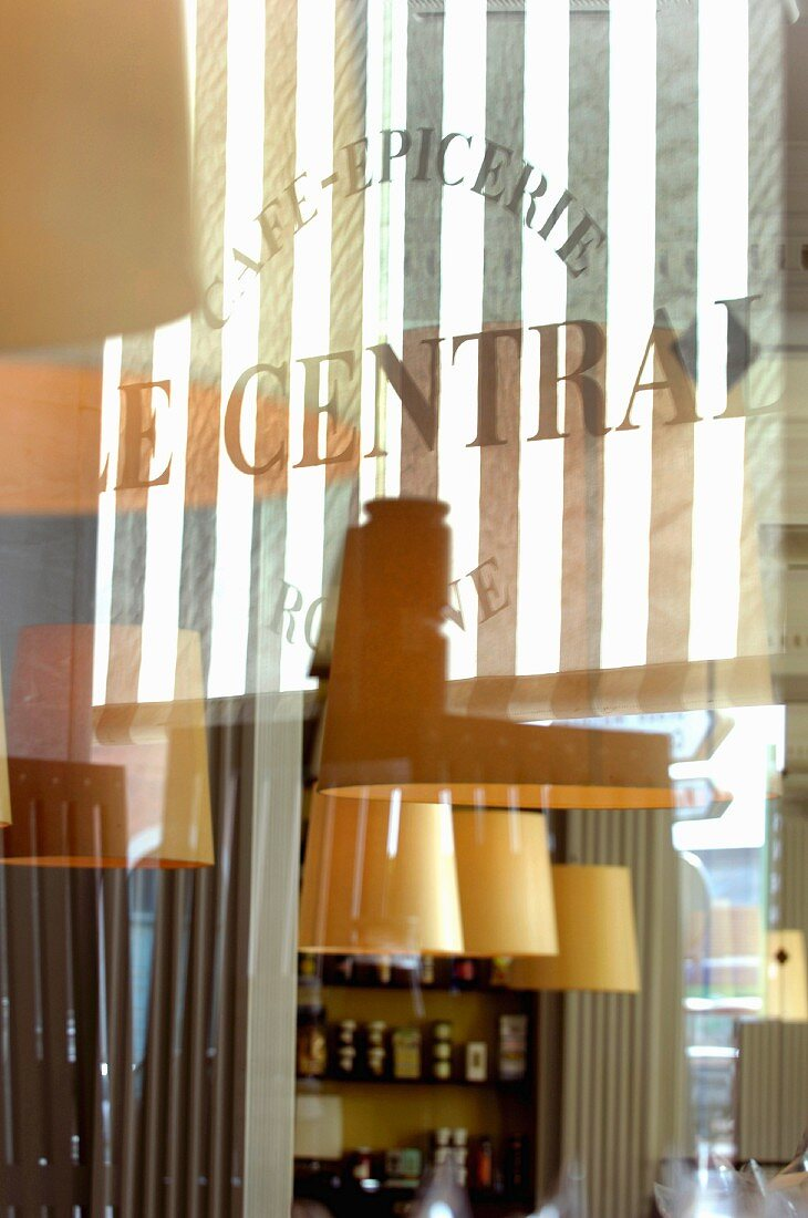 An interior view of Cafe-Epicerie Le Central (detail)
