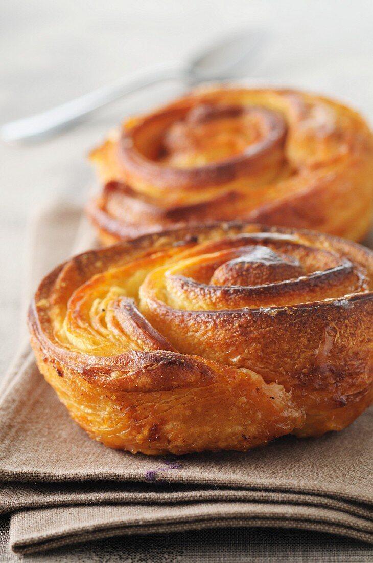 Kouign amann (butter cakes, Brittany)