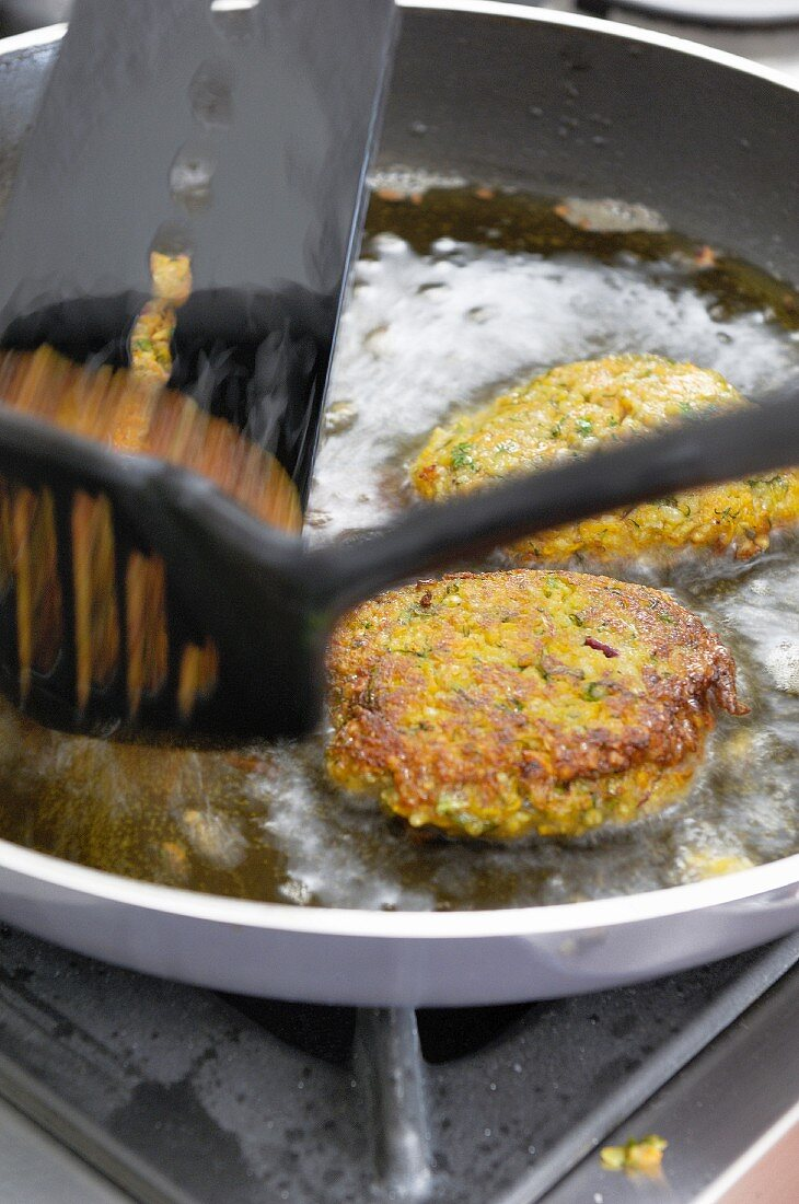 Vegetable and bulgur wheat burgers