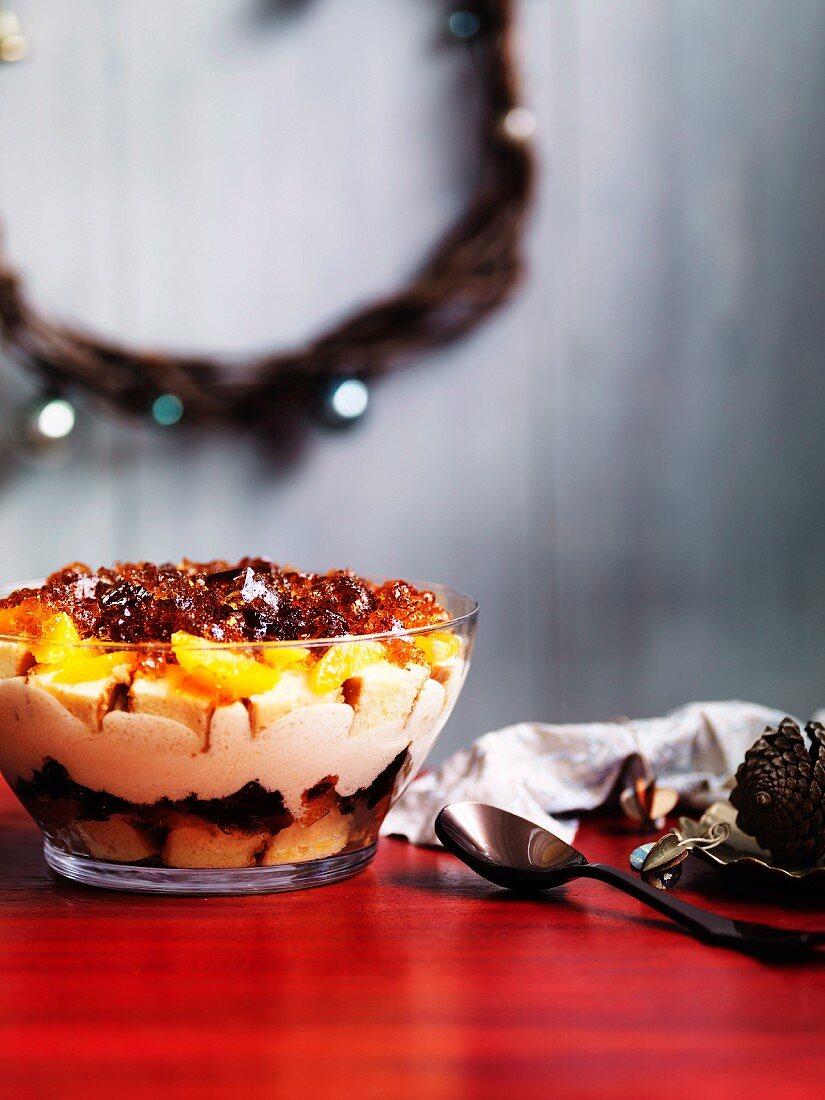 A festive orange trifle