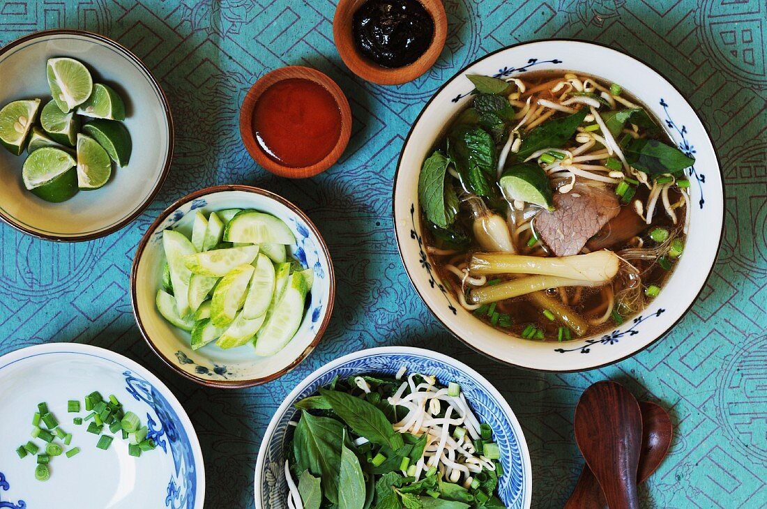 Soup and its ingredients (Vietnam)
