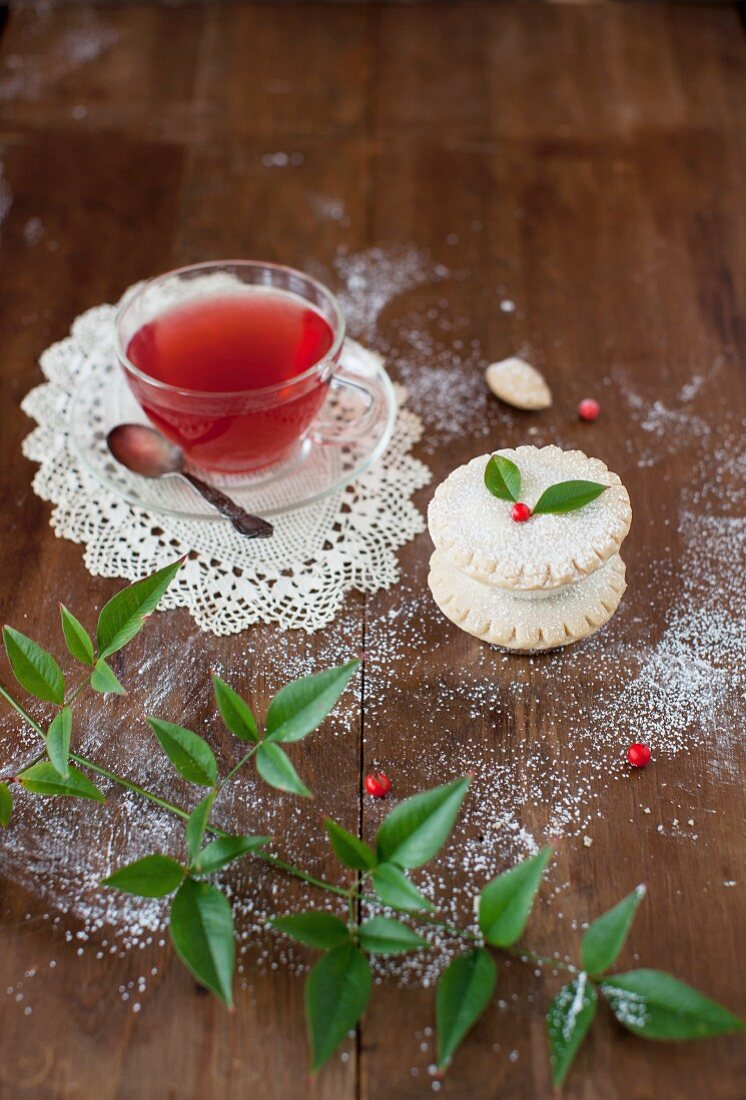 Whisky Laced Mince Pies with Tea