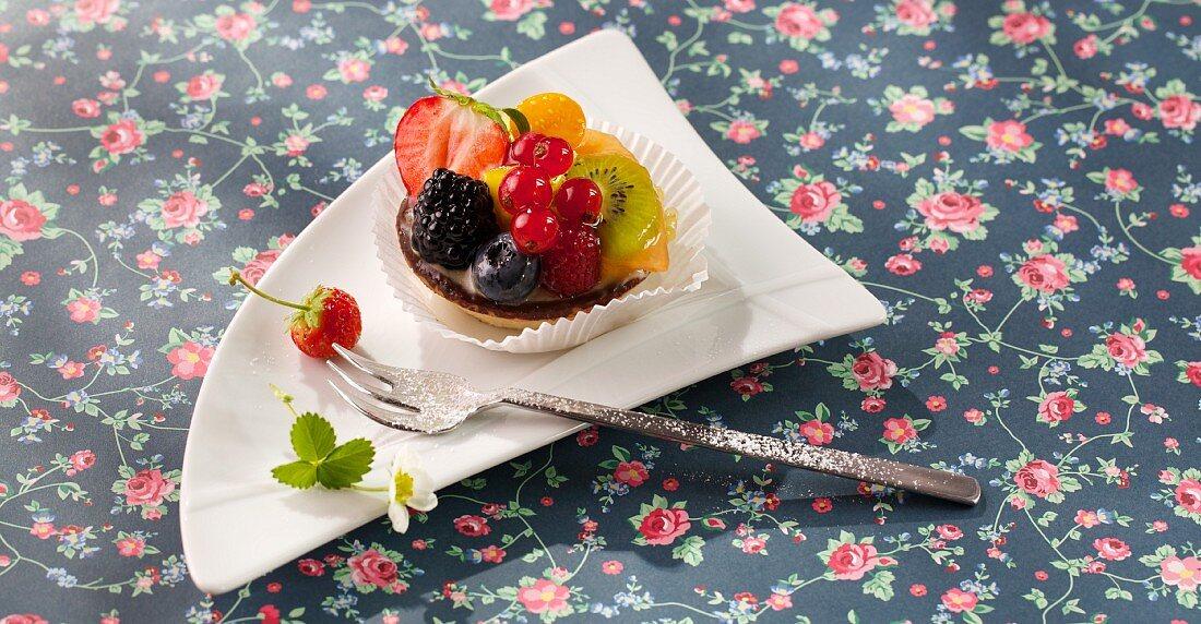 A summer fruit tartlet