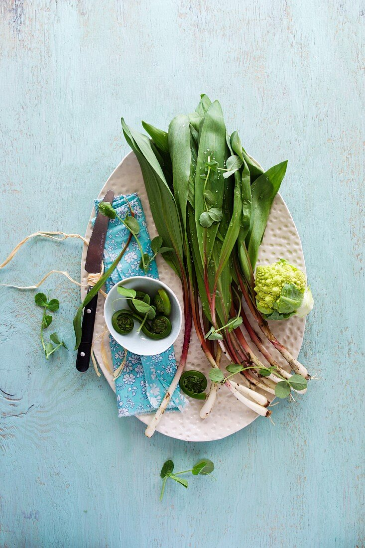 Fresh Ramps with Fiddleheads