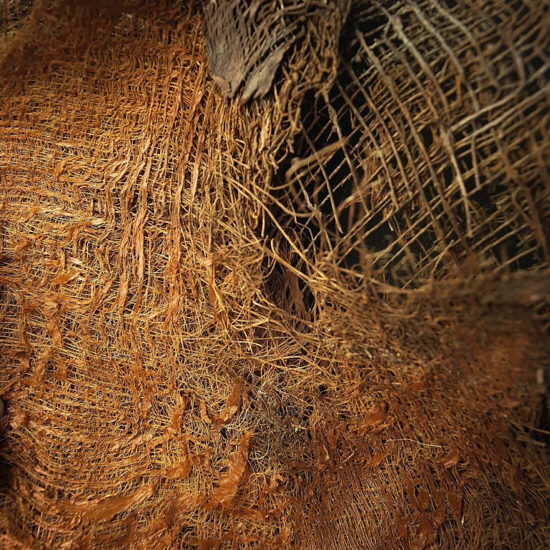Brown woven material