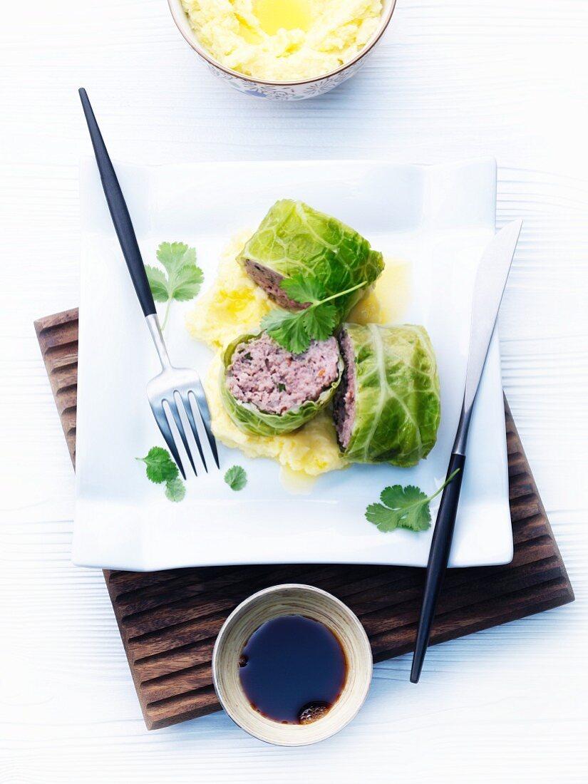 Asian savoy cabbage wraps