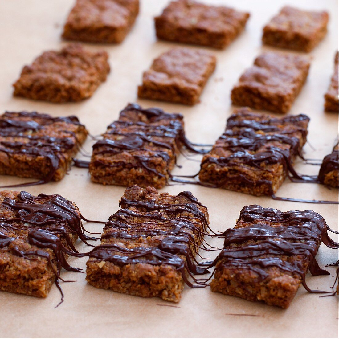 Chocolate Flapjacks (Sweet oat slices, UK)