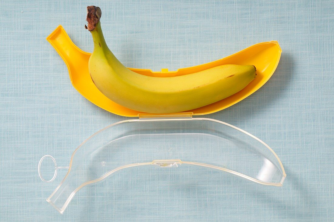 A banana in a protective storage case