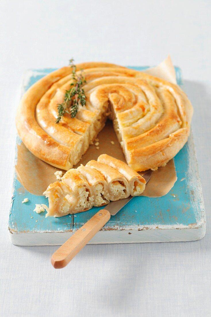 Burek (flatbread with cheese filling, Bosnia and Herzegovina)