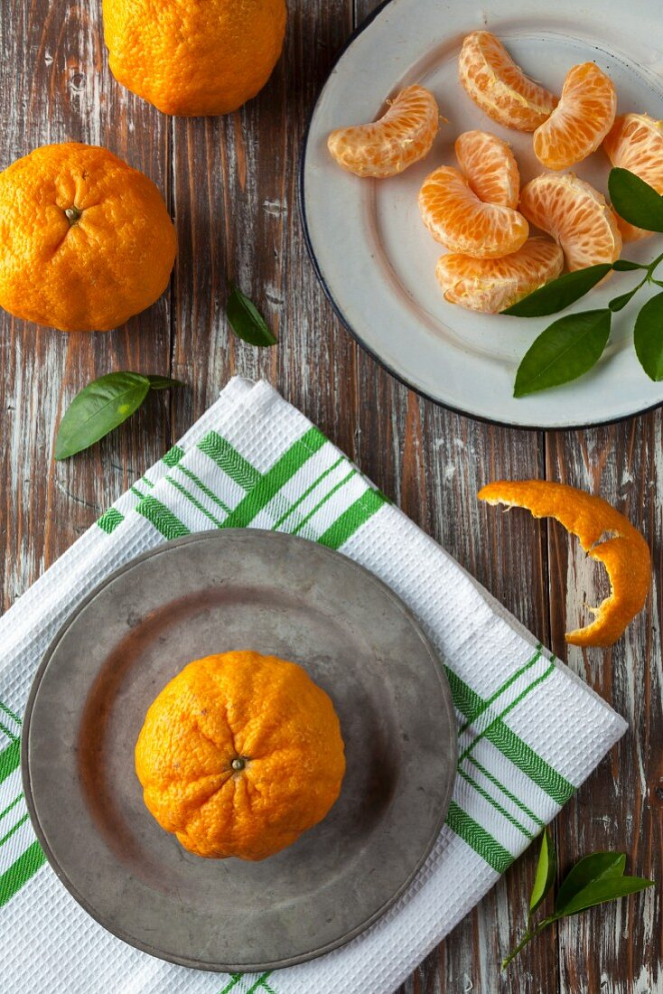 Peeled and Whole Golden Nugget Mandarin Oranges