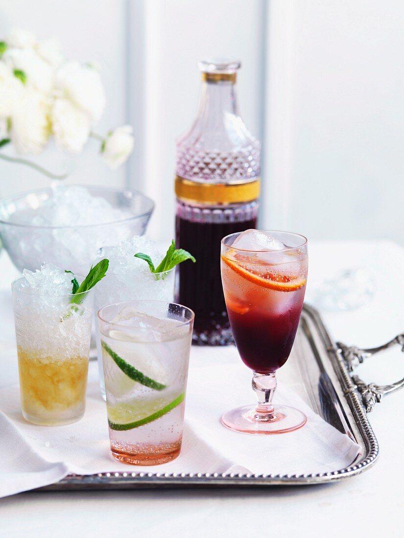 Mint Julep, Gin Rickey, blackberry-vanilla cordial