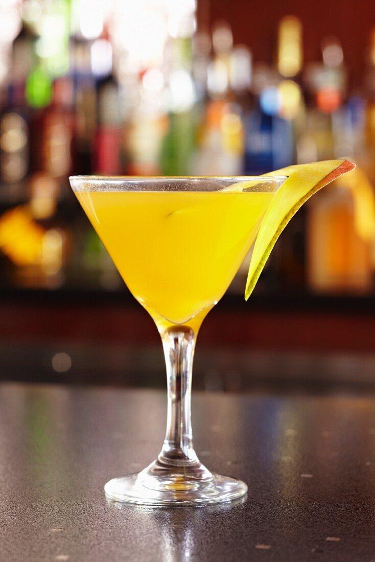 A Mango Martini on a Bar