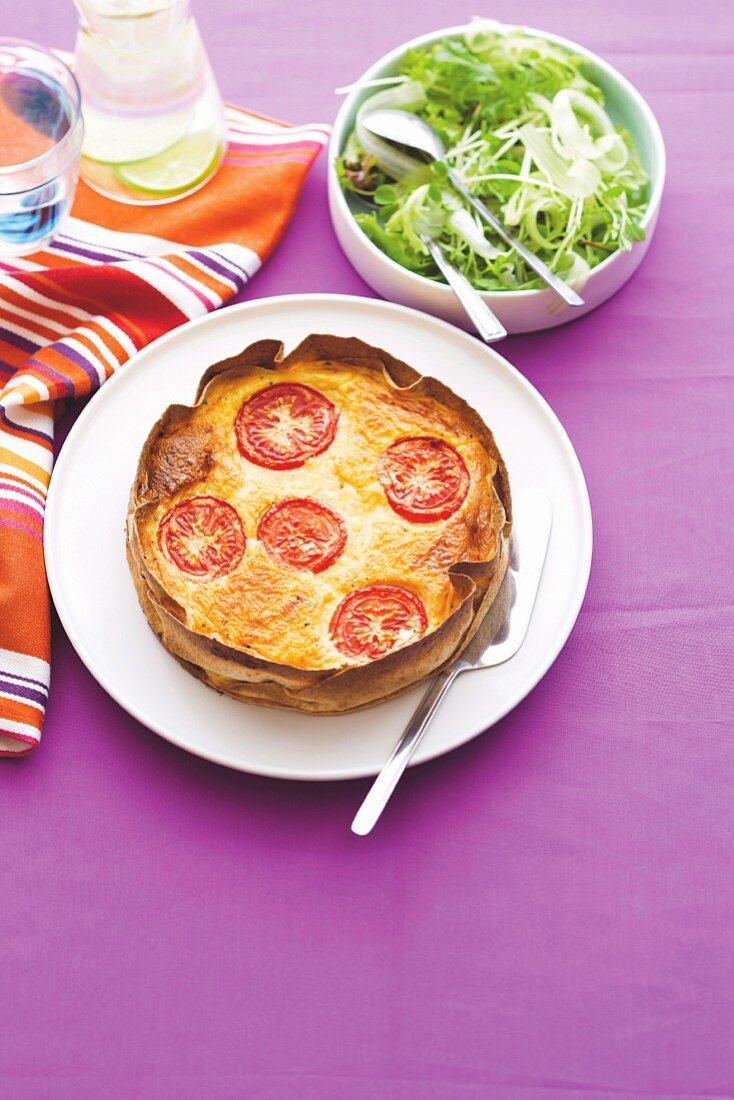 Cheese and tomato tart