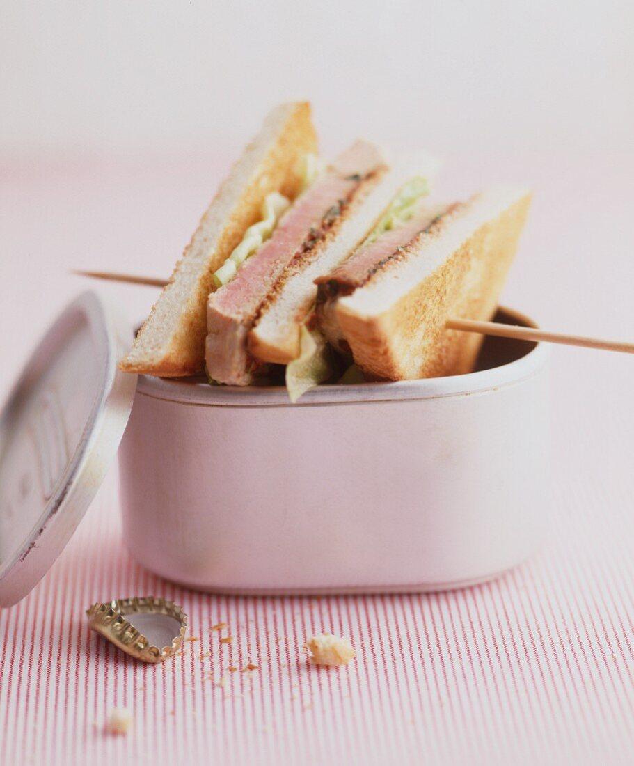 A pastrami sandwich
