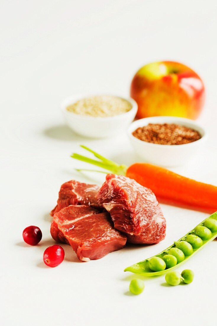 Cubed Venison with Assorted Ingredients