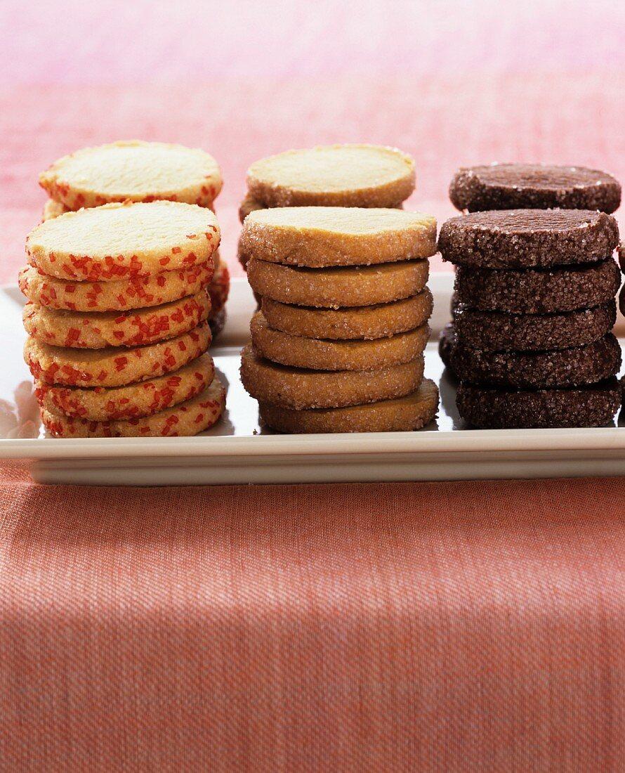 Valentine's Day biscuits, stacked