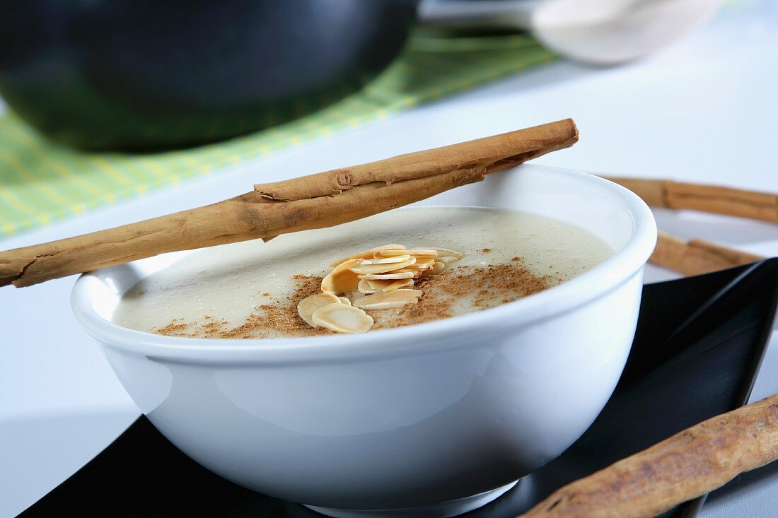 Almonds sweet soup
