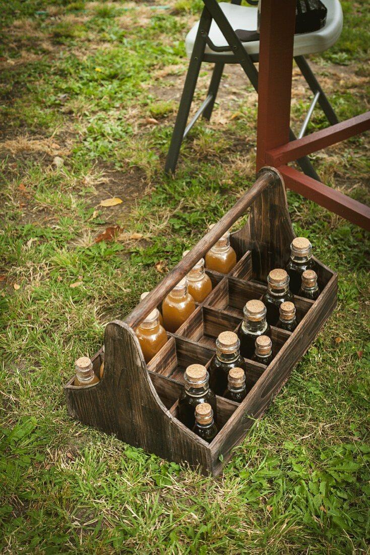 Bottles of Orange Blossom Honey and Avocado Honey