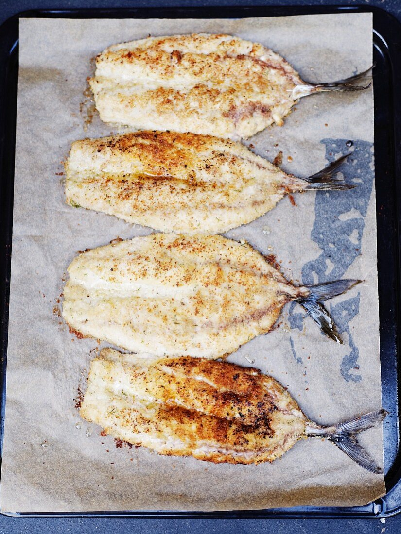 Baked Atlantic mackerel