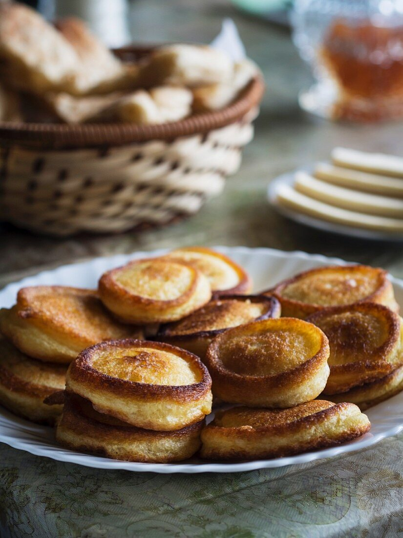 Georgian cuisine – pancakes Tusheti style.