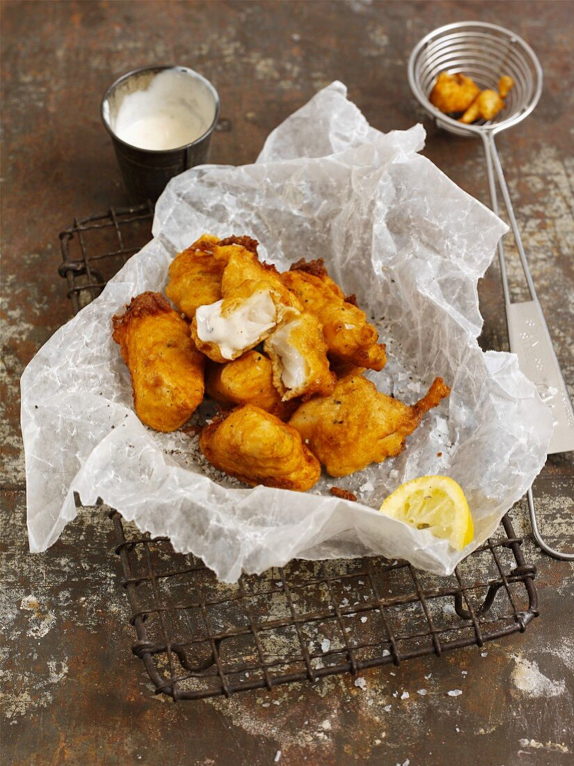 Fish pakora (deep-fried fish, India)